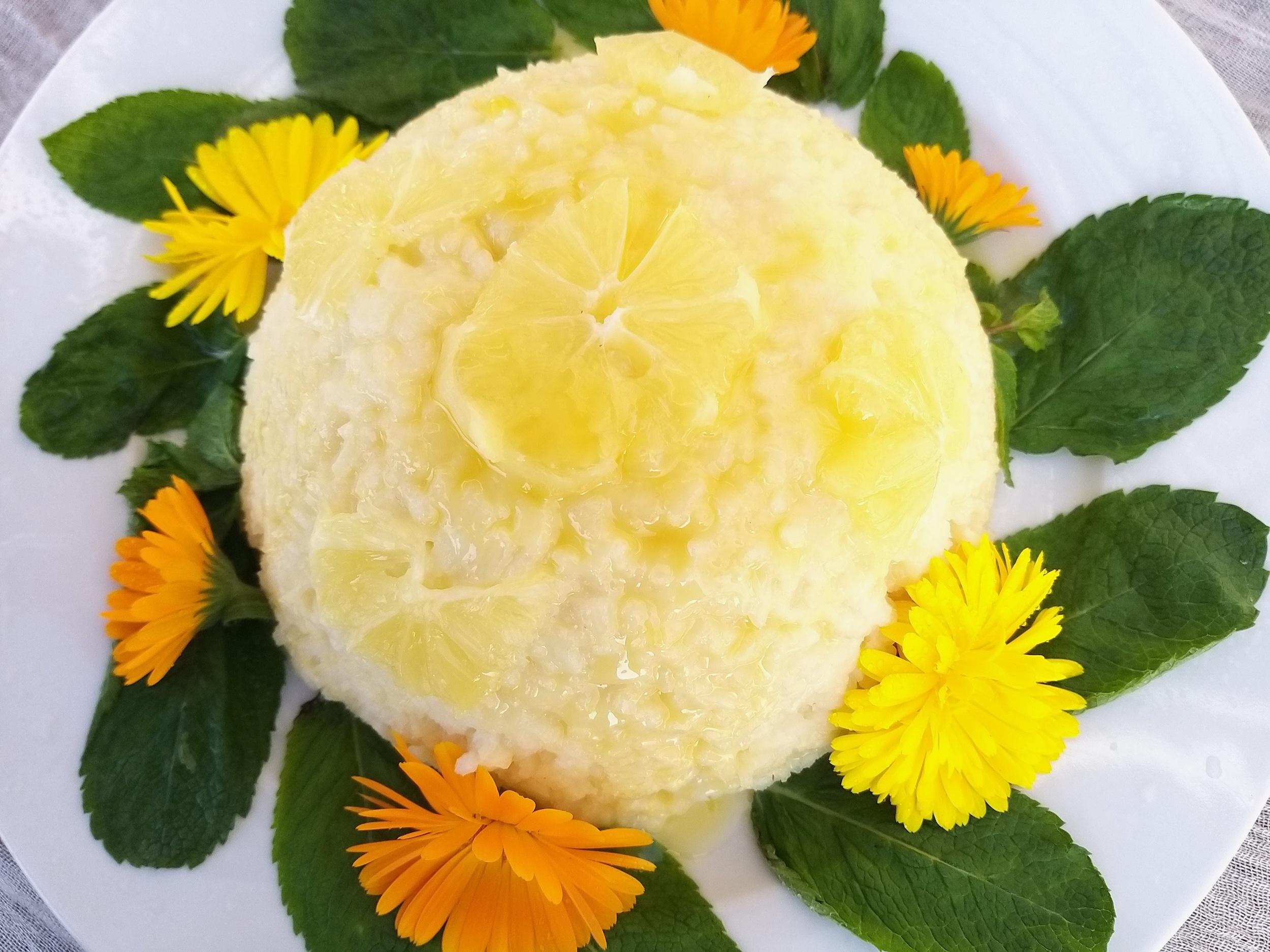 rijsttoetje met citroen
